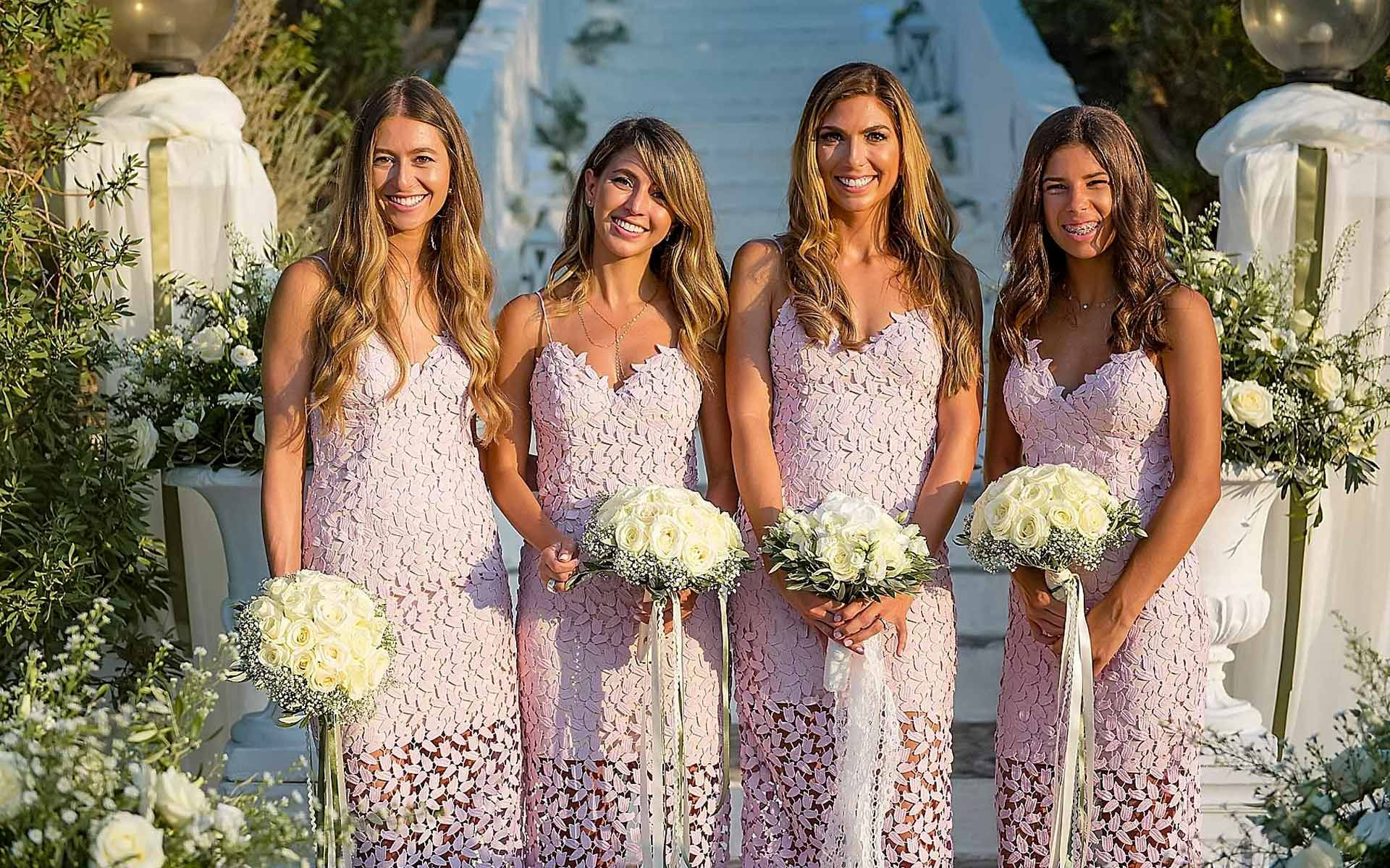 The-Bridesmaids-Are-Posing-While-They-Are-Waiting-For-The-Bride