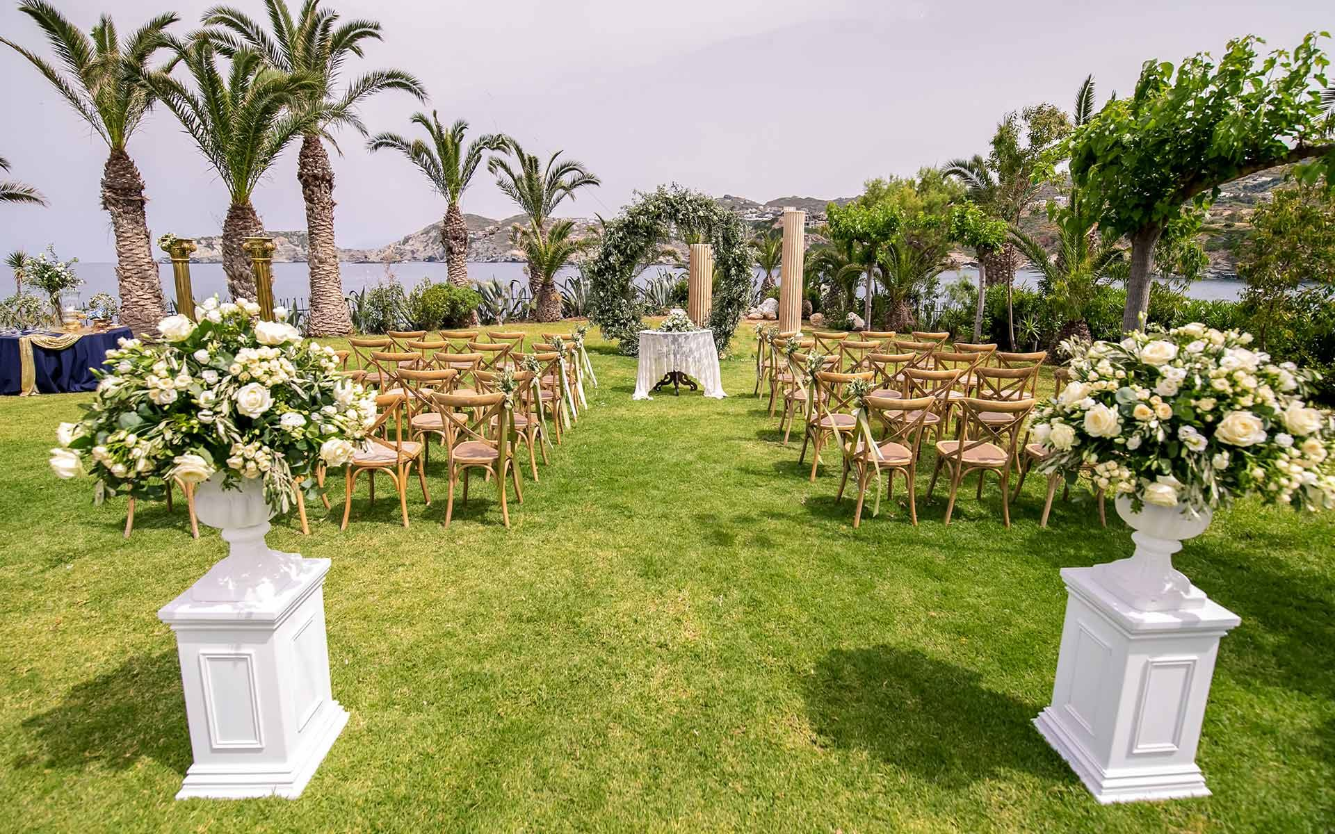 Luxury-Ceremony-Decoration-with-Olive-Leaves-in-Capsis-Elite-Resort-Crete