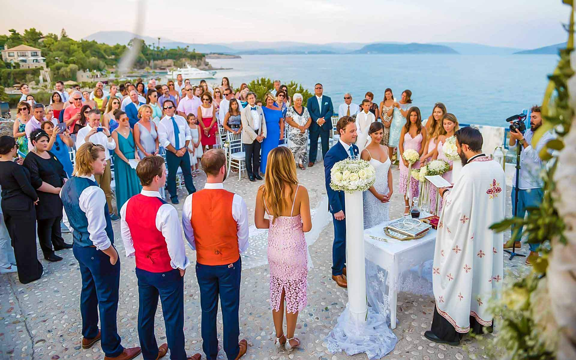 Wedding-ceremony-in-the-courtyard-of-a-monastery-on-a-Greek-island-by-Diamond-Events-Wedding