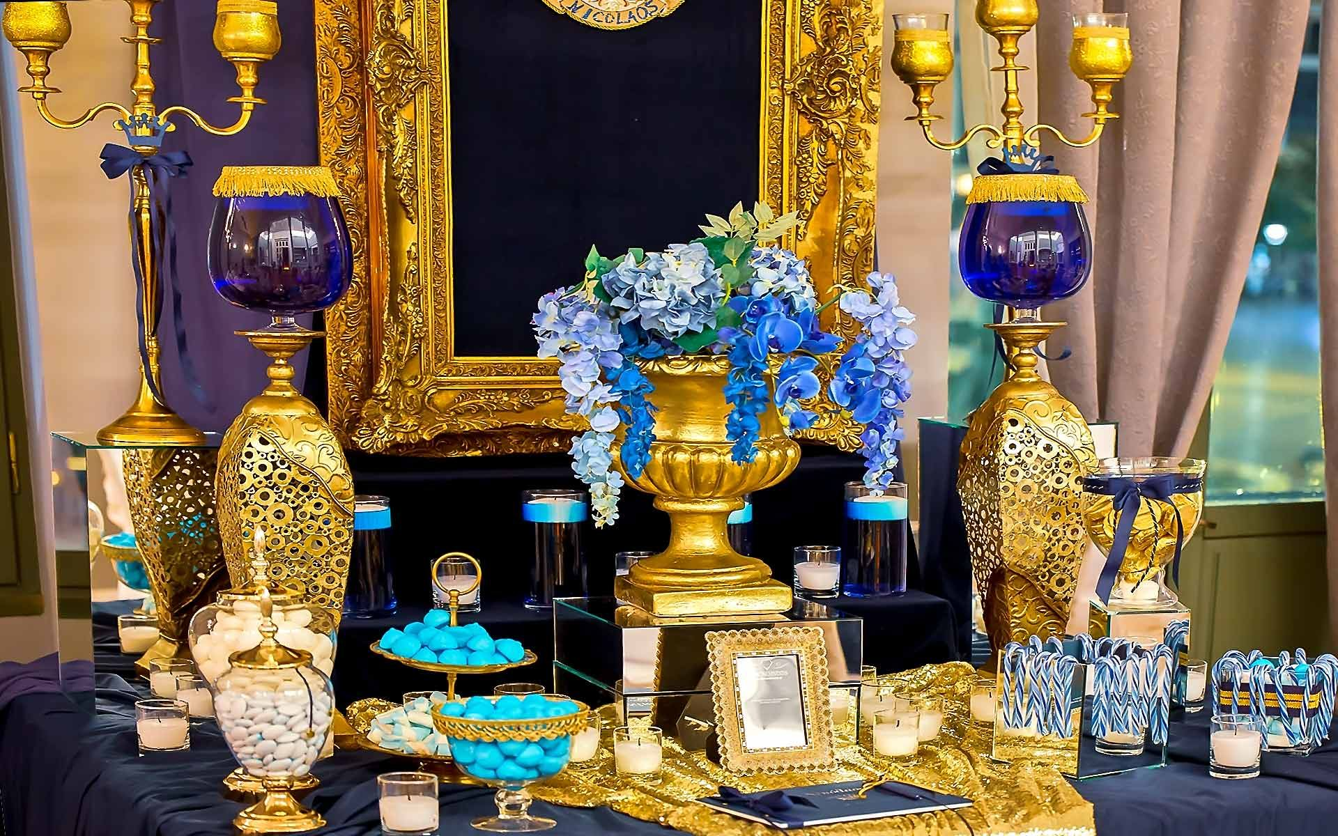 Gold-and-Blue-Guest-Book-Table-Sign-Christening-Baptism