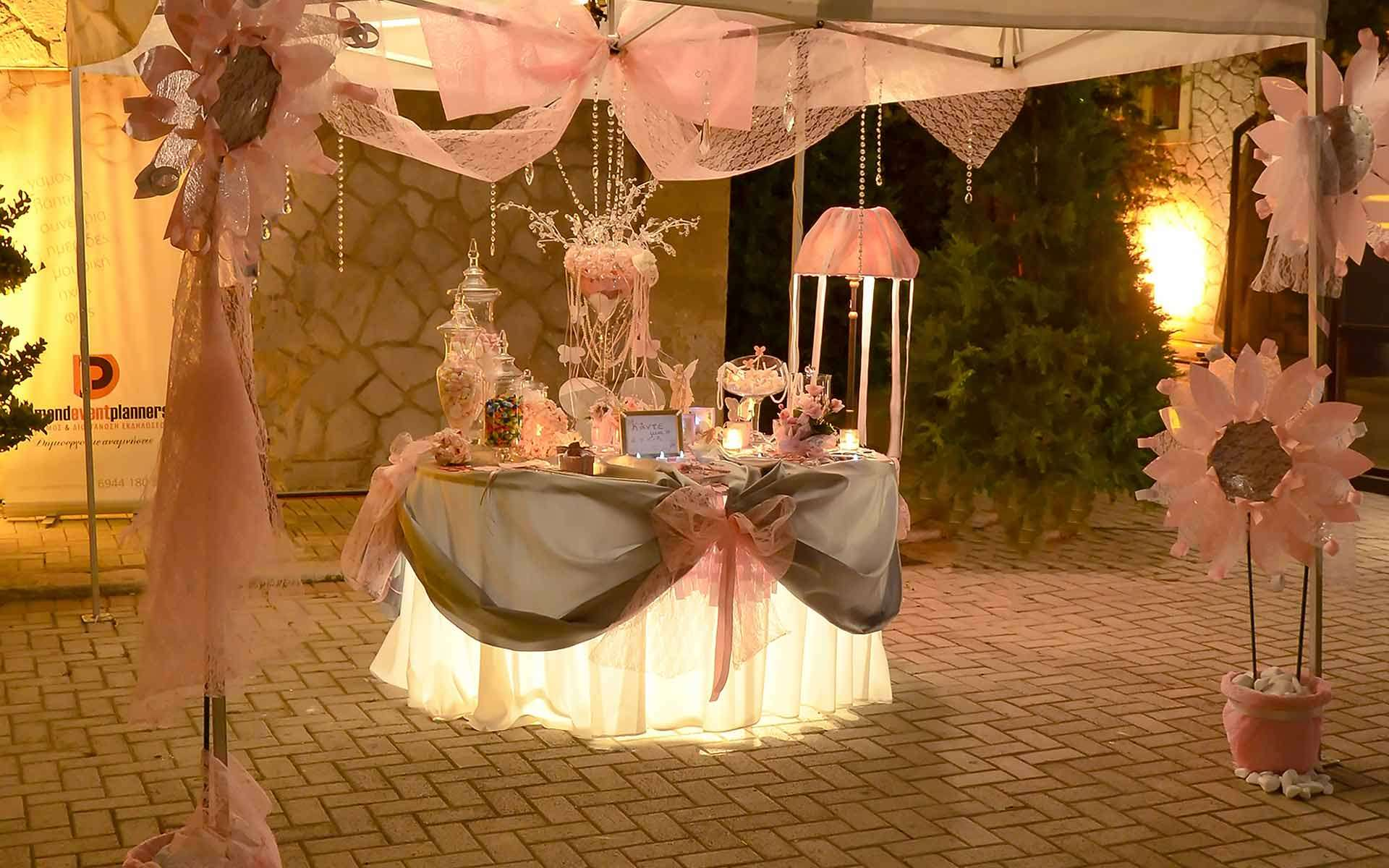 Pink-Baby-Shower-Guest-Book-And-Welcome-Table