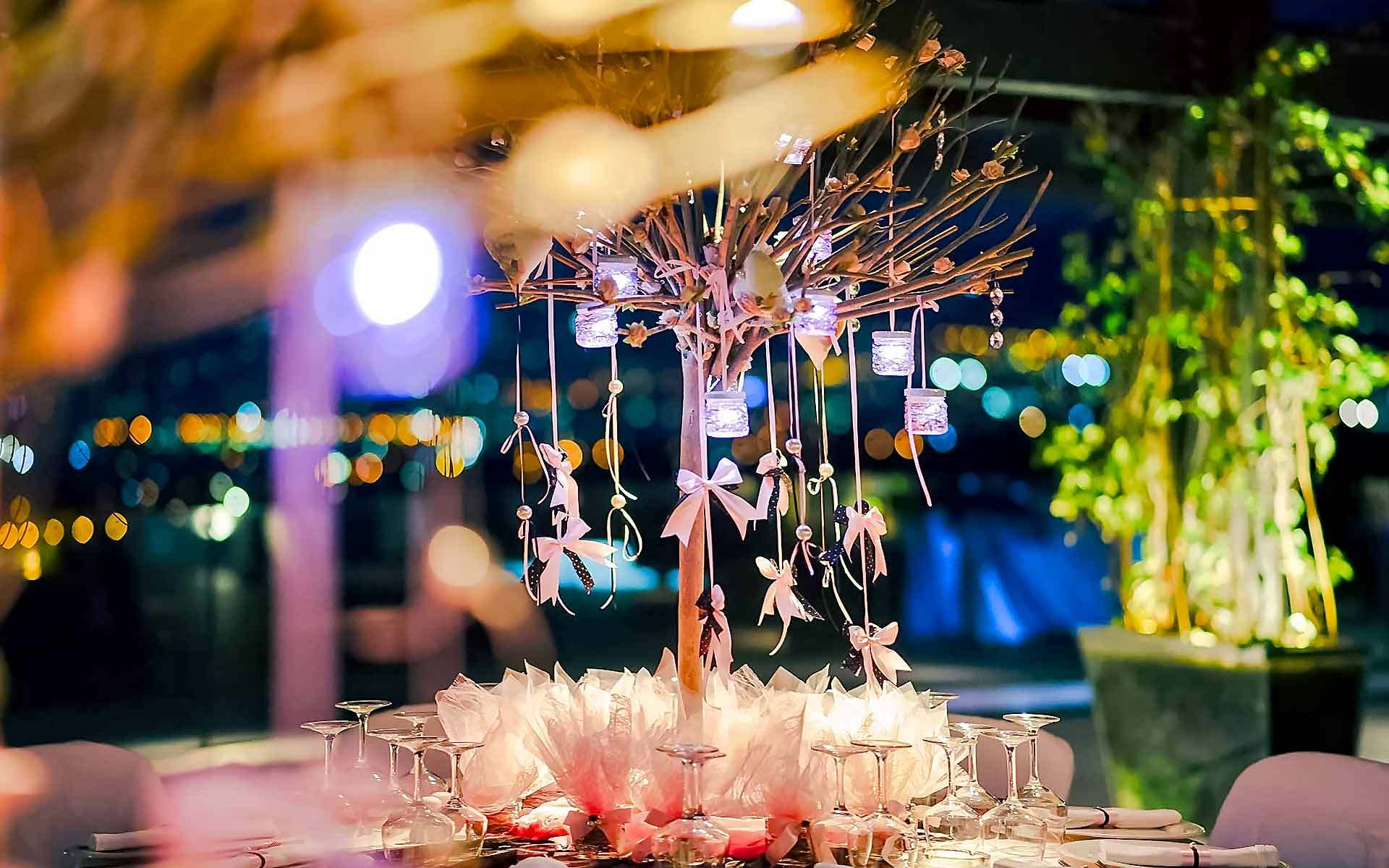Tree-Centerpiece-With-Hanging-Ribbons-In-A-Girl-Baptism-by-Diamond-Events-christening