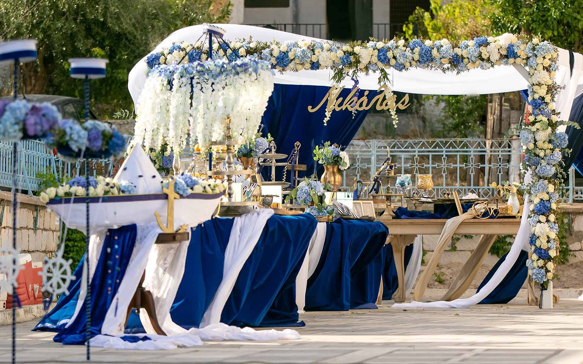 baptism desserts selection in a mandap