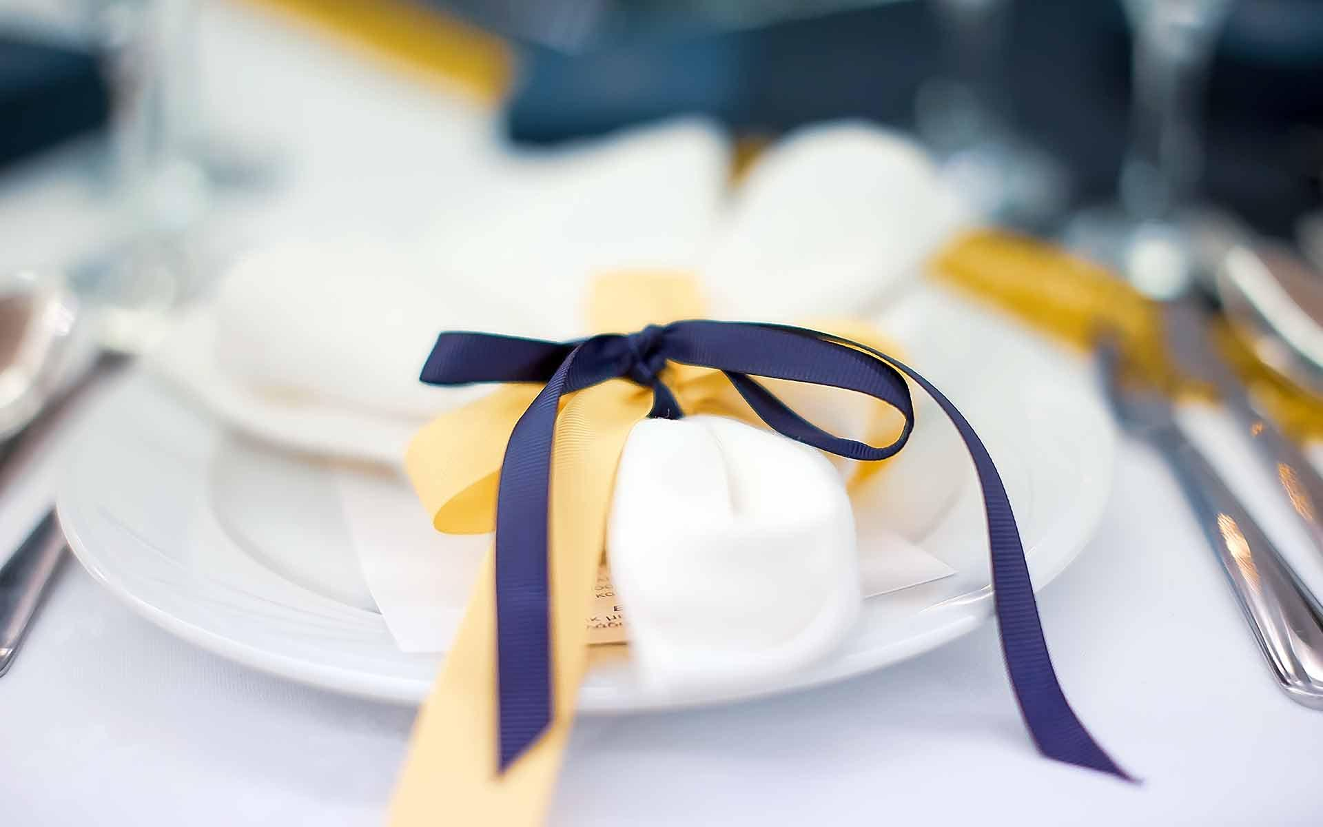royal-blue-and-gold-ribbons-for-a-baptism-favor