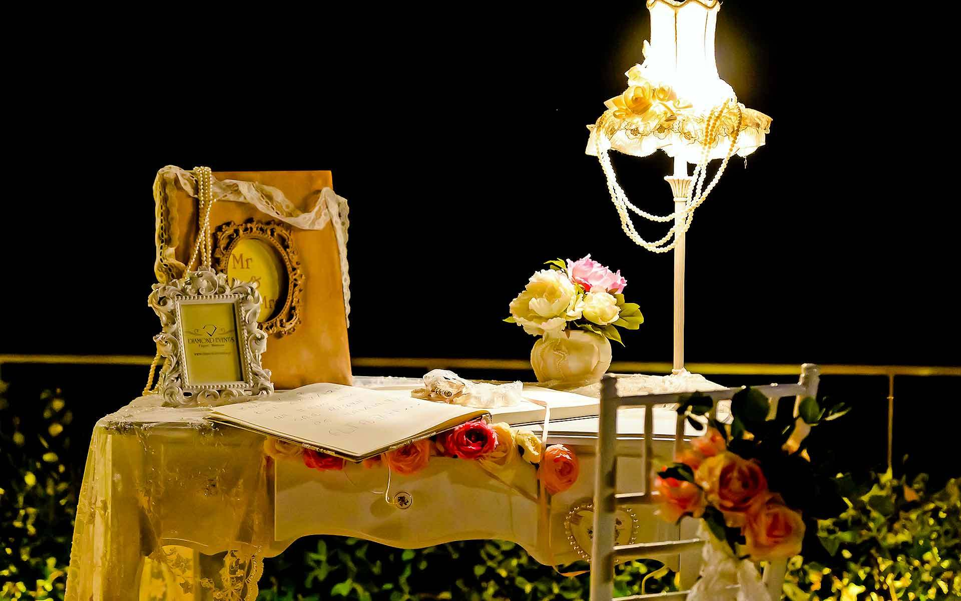 Ask-your-guests-to-write-a-message-of-well-wishes-or-perhaps-some-words-on-this-romantic-guests-book-table