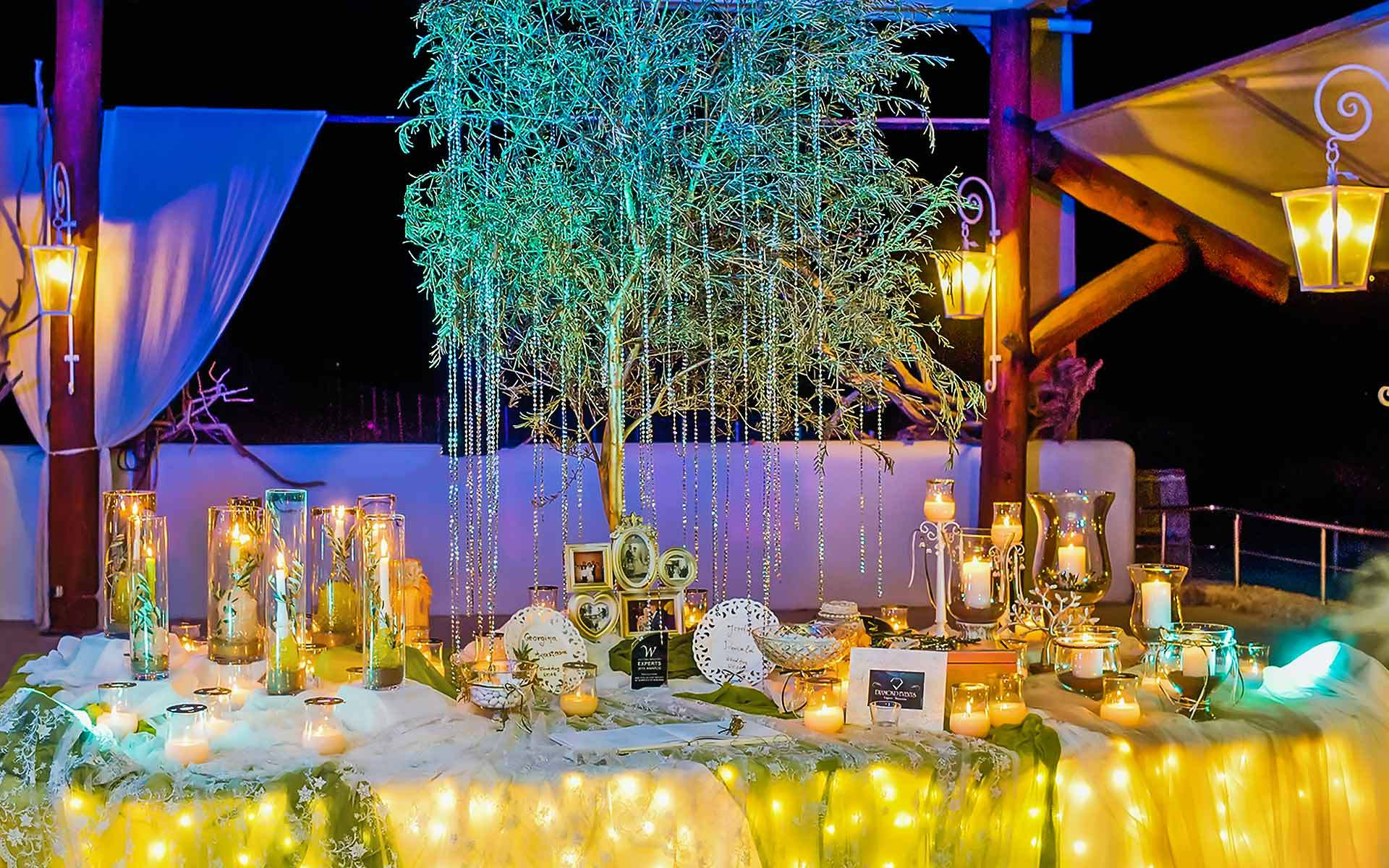 Awesome-Olive-Tree-Wedding-Guest-Book-table-by-Diamond-Events