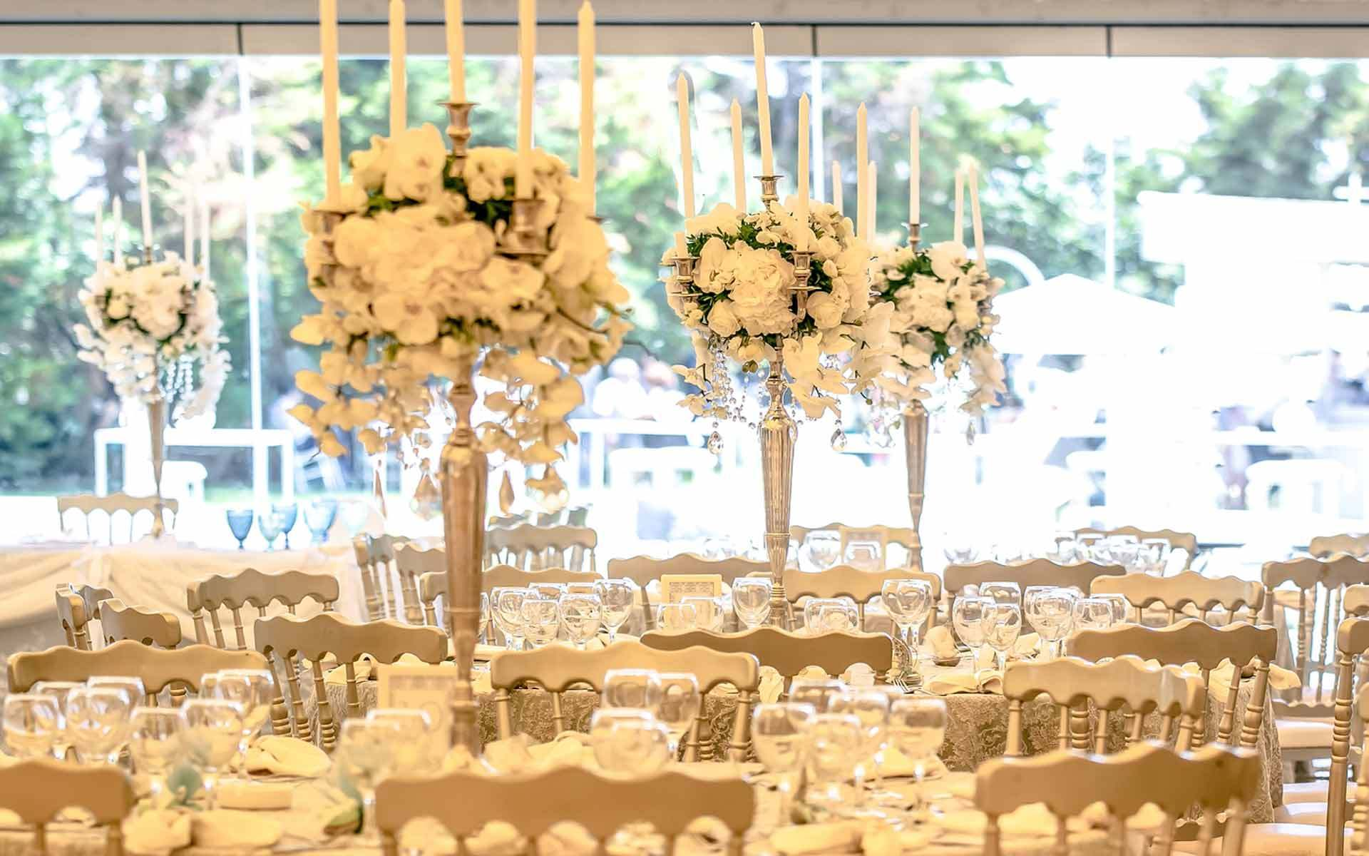 Extravagant-Dream-Wedding-candelabras-with-crystals-and-white-orchids