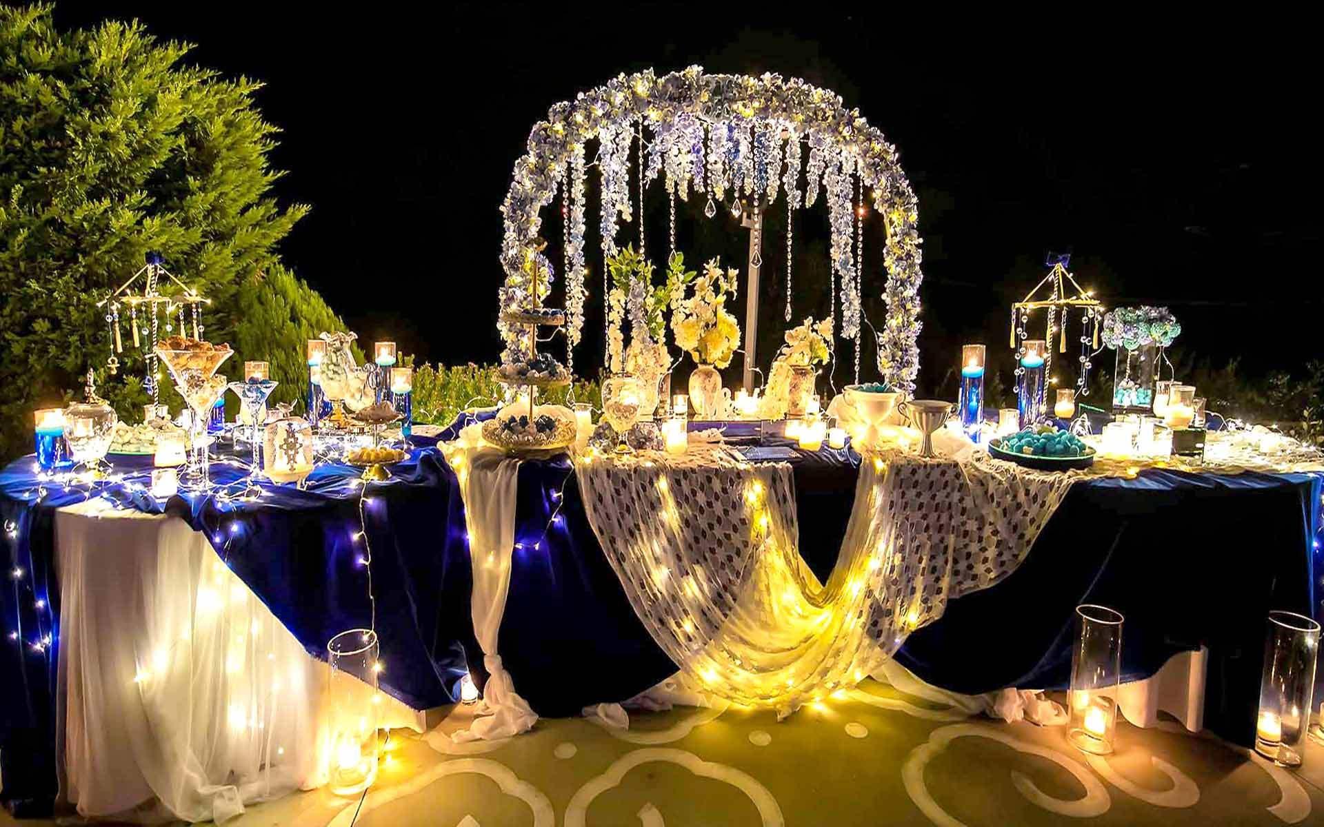 Incredible-Destination-Wedding-Guest-Book-table-with-stunning-decor-in-blue-and-white