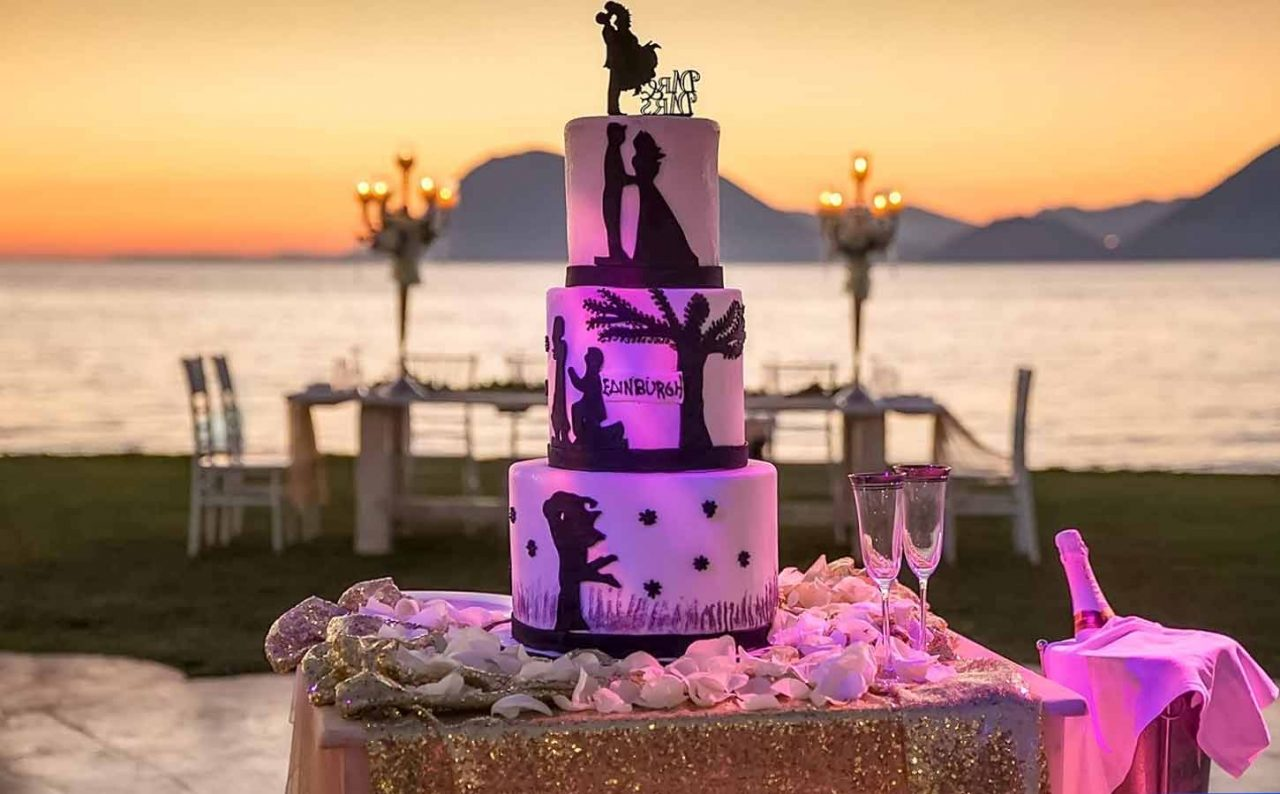 Amazing-cake-in-magenda-lighting-and-breathtaking-view!