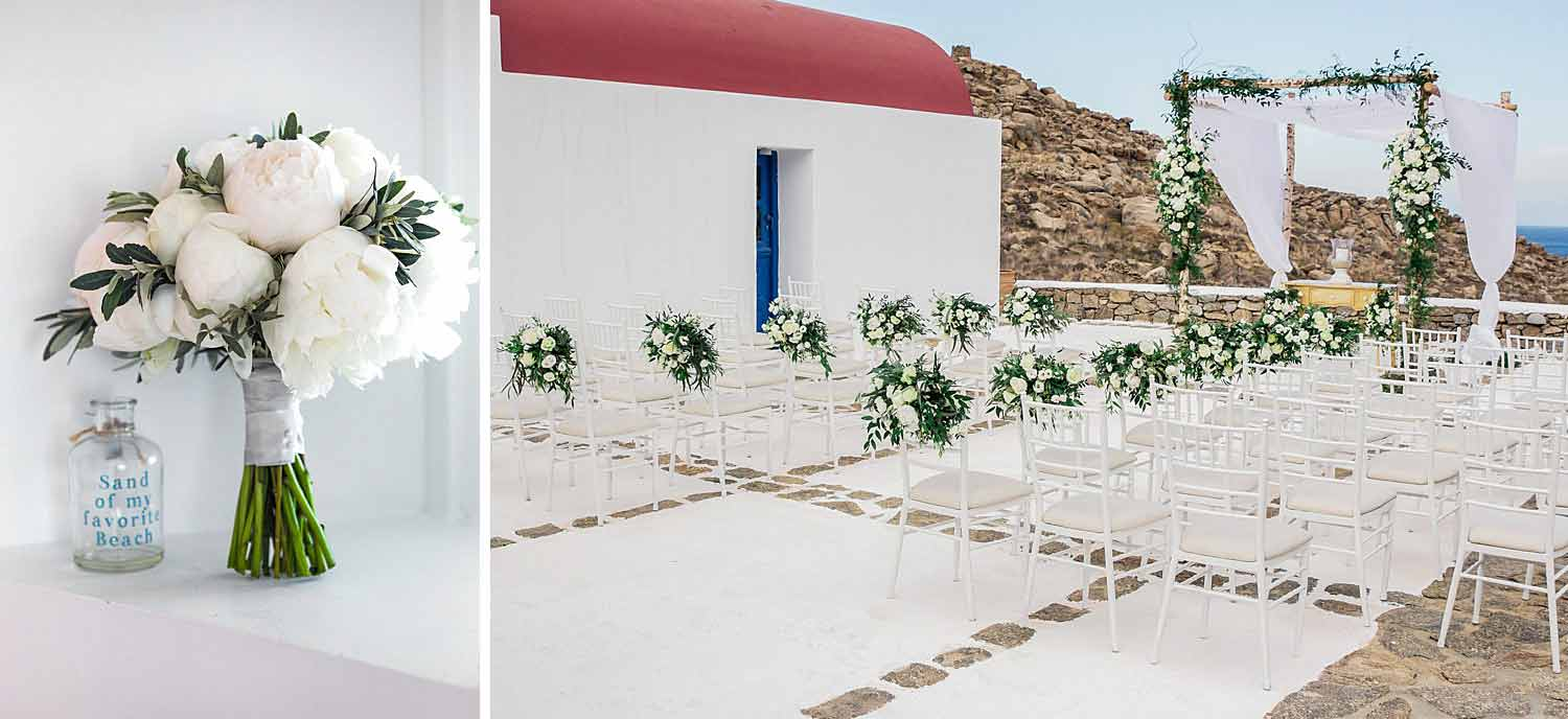 Wedding in a private villa in Mykonos by Diamond Events |  Wedding in Greece