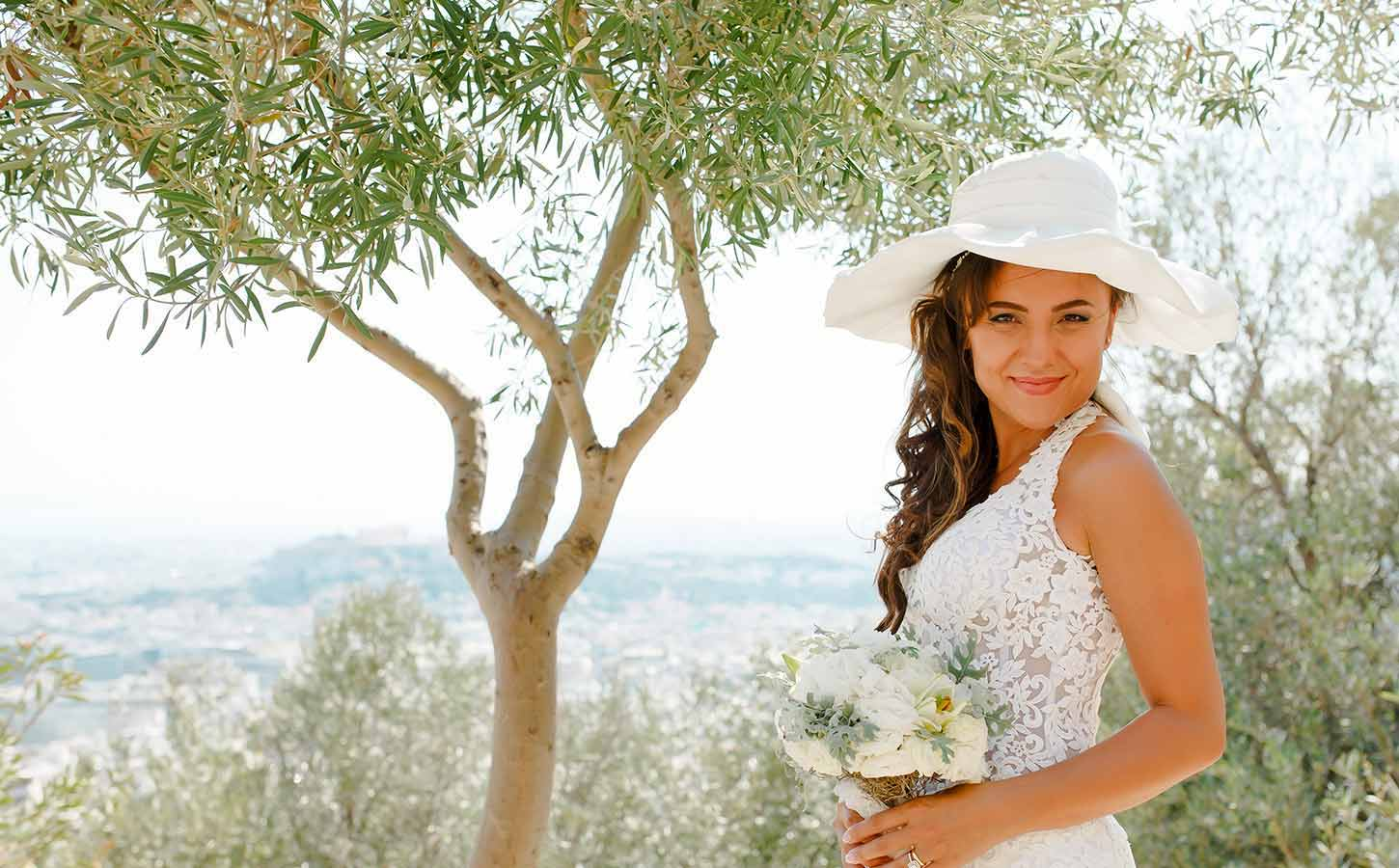 A turkish bride posing in Acropolis for the after wedding photoshooting | Tips for Happy Brides | Diamond Events Wedding Planners Greece
