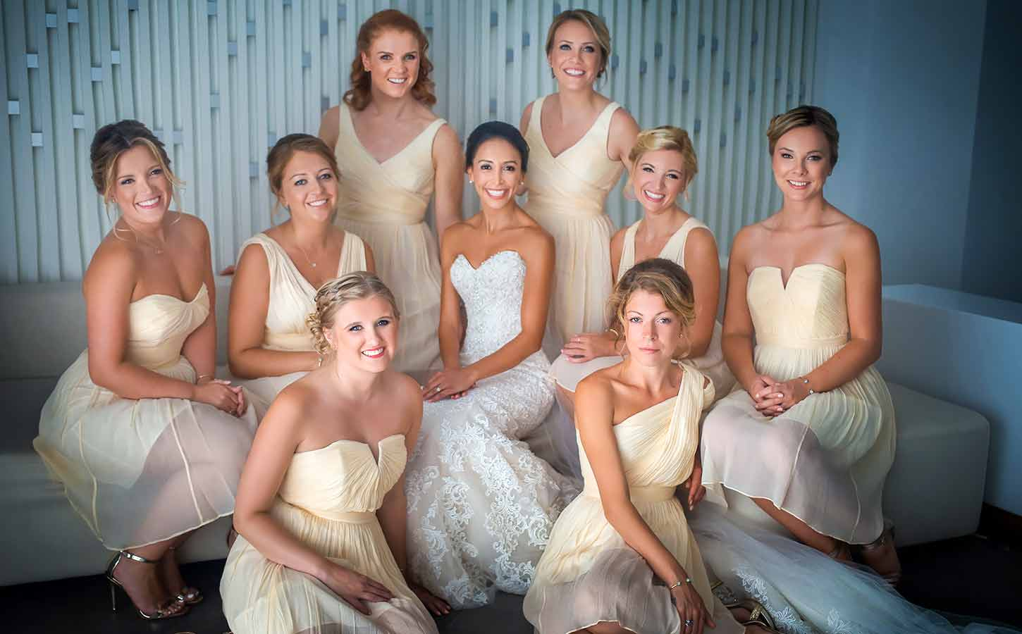A beautiful bride with her friends | Tips For Brides for a Greece Wedding | Diamond Events Wedding Planner