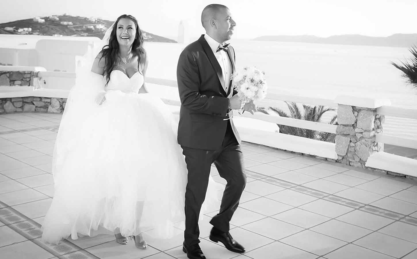 Egyptian and Lebanese couple in Mykonos | Tips For Brides for a Greece Wedding | Diamond Events Wedding Planner