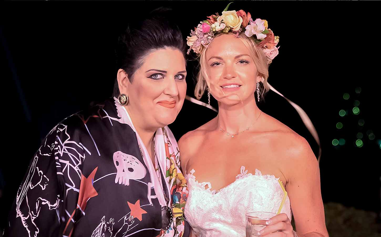 Anna-Maria-Rogdaki-Founder-and-designer-of-Diamond-Events with Hannah in her wedding in Mykonos