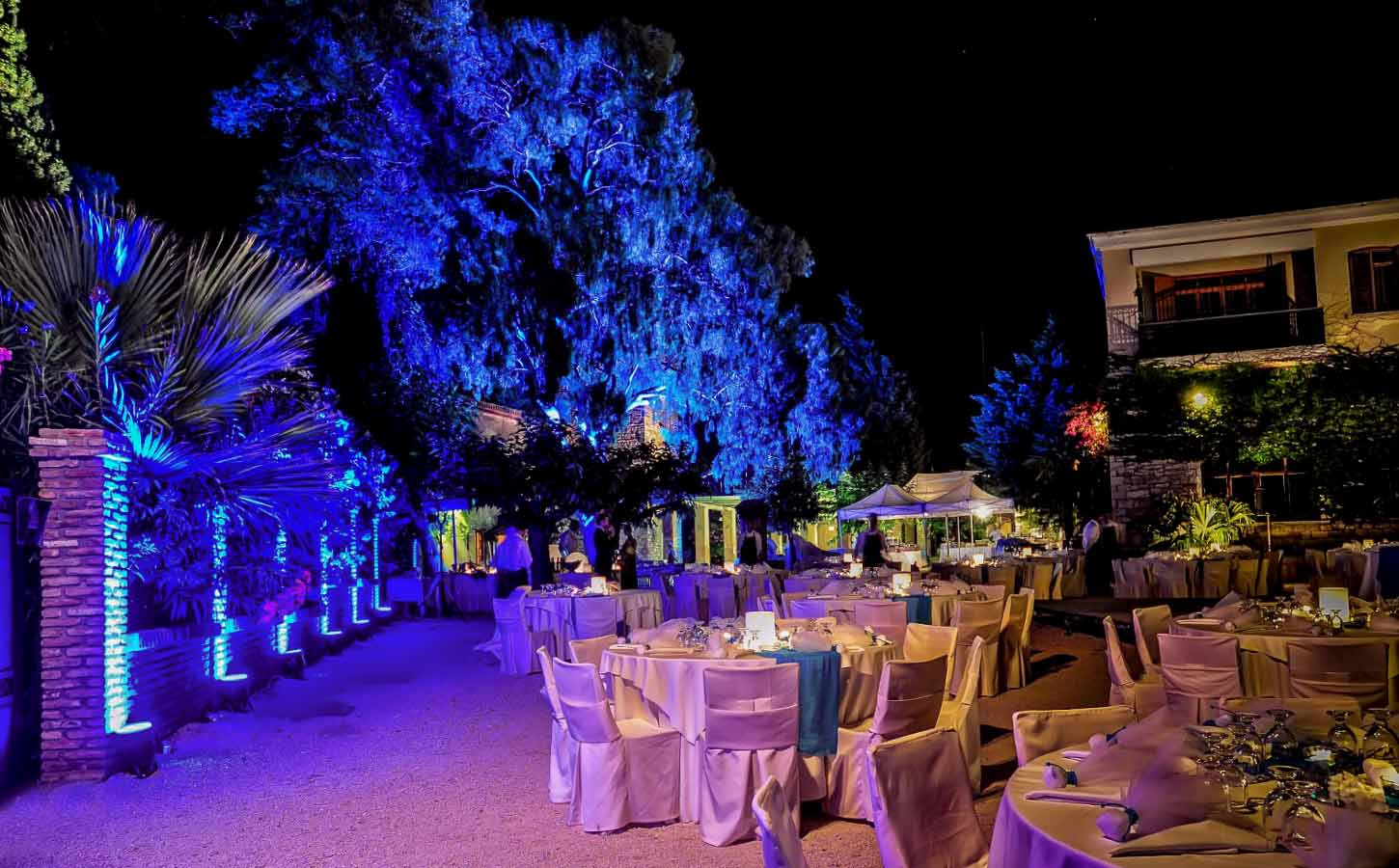 blue-lihting-in-achaia-clauss-winery-in-greece--diamond-events-luxury-event-planning-services