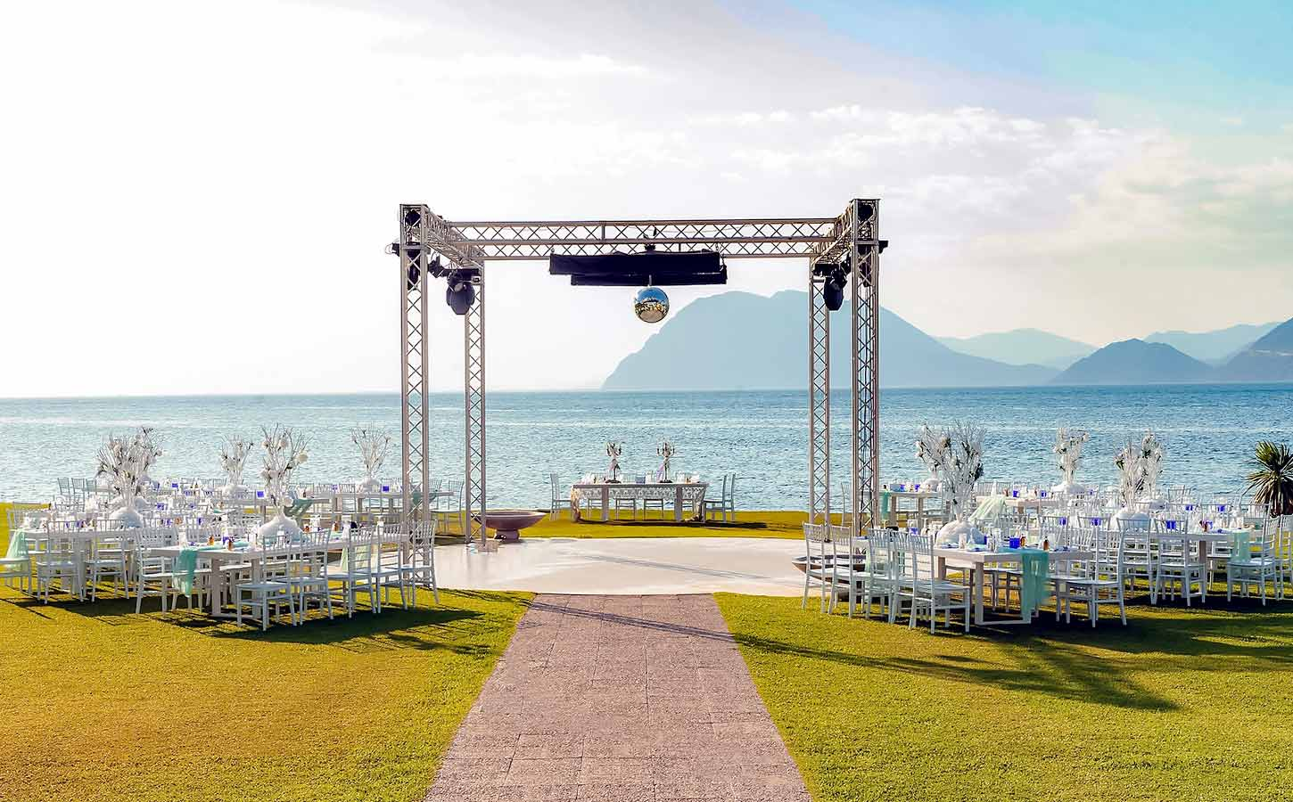 Sea-side-reception-venue-set-up-by-Diamond-Events,-Greece-Great Locations for Your Wedding in Greece